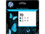 Cabezal de impresión azul y verde HP 70