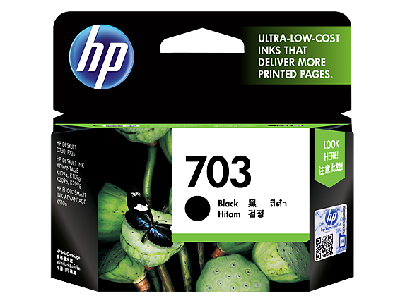 HP 703 Black Original Ink Advantage Cartridge