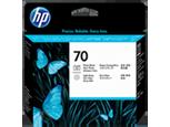Cabezal de impresión negro y gris claro HP 70