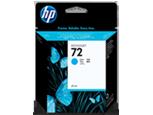 HP 72, Струйный картридж HP, 69 мл, Голубой