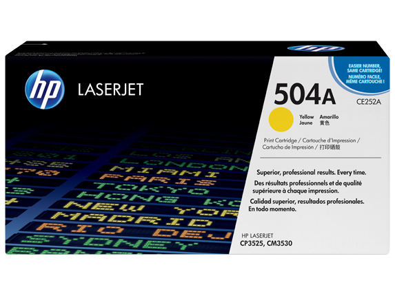 HP 504A CE252A Yellow Original LaserJet Toner Cartridge