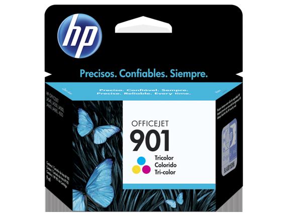 Cartucho original de tinta tricolor HP 901