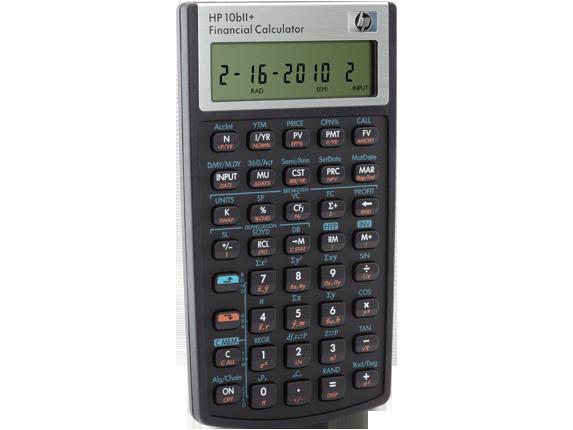 الآلة الحاسبة المالية HP 10bII+