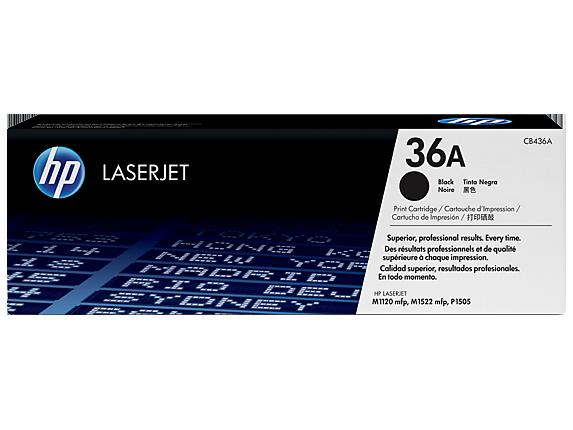 HP 36A, Оригинальный лазерный картридж HP LaserJet, Черный