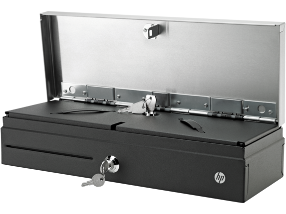 Hp 123 Manual Cash Drawer With Under Counter Mounts Side View