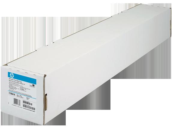 Papier jet d'encre blanc brillant HP - 841mmx 45,7m