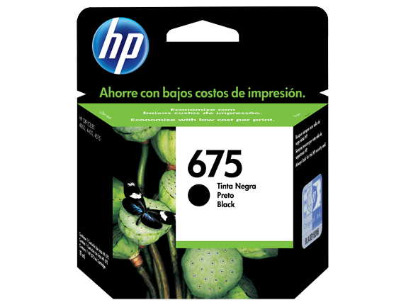 Cartucho original de tinta negra HP 675 Advantage