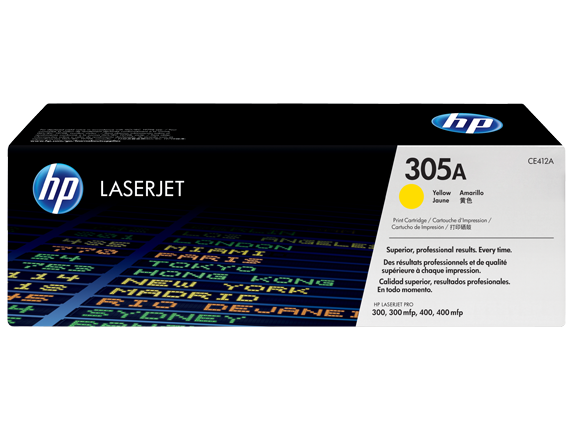 HP 305A, Оригинальный лазерный картридж HP LaserJet, Желтый