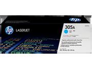 Cartucho de tóner HP 305A LaserJet, cian