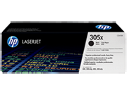 Cartucho de tóner HP 305X LaserJet, negro