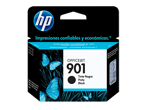 Cartucho original de tinta negra HP 901