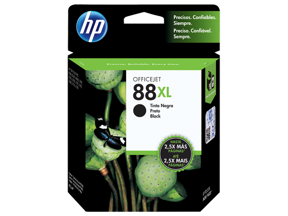 Hp 88xl high yield black original ink cartridge c9396al hp
