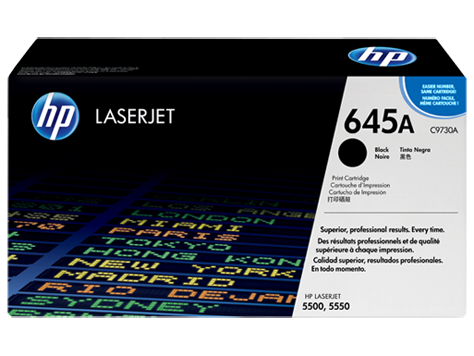 Hp 645a black original laserjet toner cartridge c9730a hp 174 united