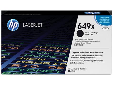 Cartucho original de tóner negro de alto rendimiento HP 649X LaserJet