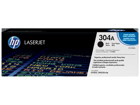 Cartucho original de tóner negro HP 304A LaserJet