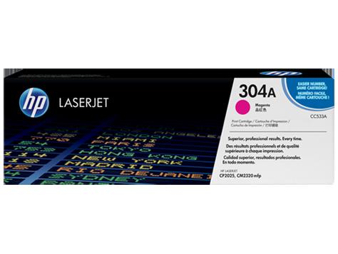 Cartucho original de tóner magenta HP 304A LaserJet