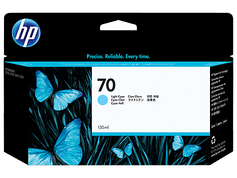 HP 70 130-ml Light Cyan Ink Cartridge