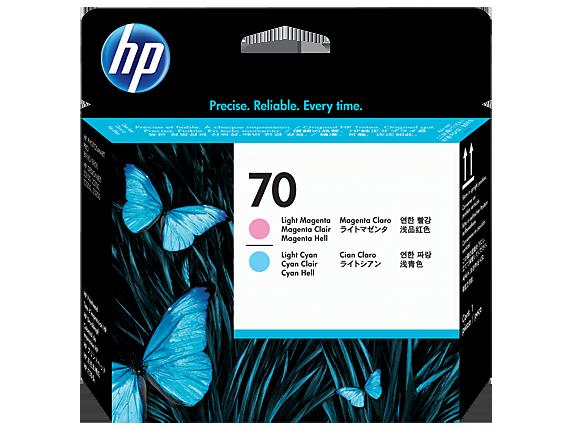 HP 70 Light Magenta and Light Cyan Printhead
