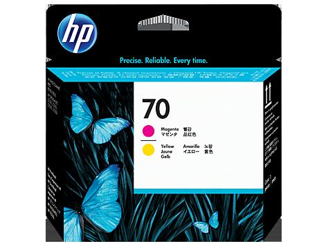 HP 70, Печатающая головка DesignJet, Пурпурная и Желтая