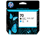 Cabezal de impresión negro y cian mate HP 70