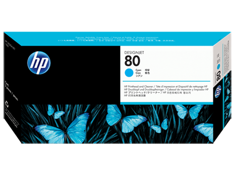 HP C4821A No 80 Printhead And Cleaner
