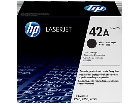 Čierna originálna tonerová kazeta HP 42A LaserJet
