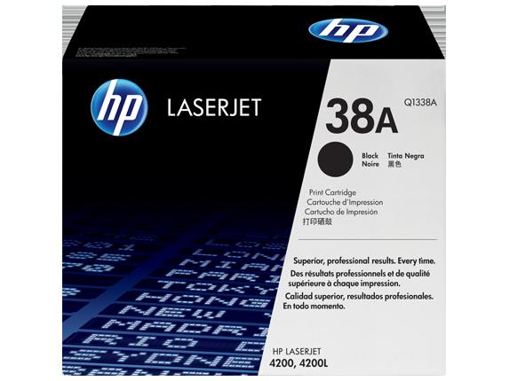 Cartucho original de tóner negro HP 38A LaserJet