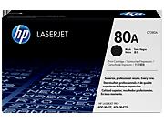 Cartucho de tóner HP 80A LaserJet, negro