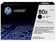 Cartucho de tóner HP 80X LaserJet, negro