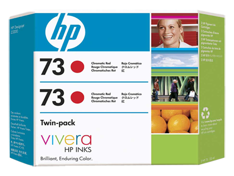 HP 73 2-pack 130-ml Chromatic Red Ink Cartridges
