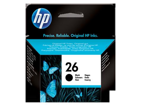 HP 26, Оригинальный струйный картридж HP, Большой, Черный