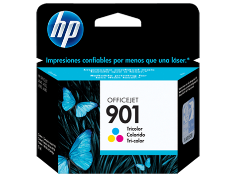 Cartucho original de tinta tricolor HP 901