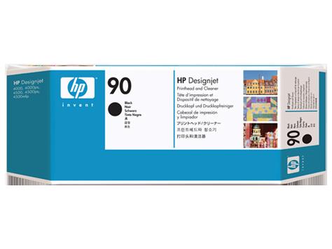 Cabeça de impressão HP 90 Preto e dispositivo de limpeza