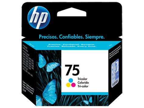 Cartucho original de tinta tricolor HP 75