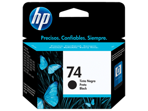 Cartucho original de tinta negra HP 74