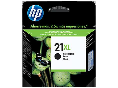 Cartucho original de tinta negra de alto rendimiento HP 21XL