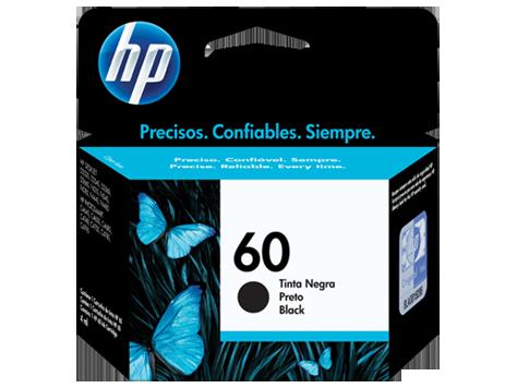 Cartucho original de tinta negra HP 60