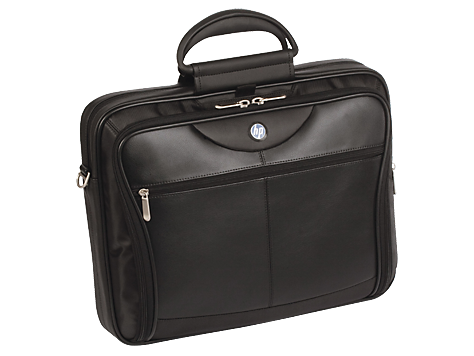 hp ultra portable 16 executive leather nylon nbkt computer carrying case pa845a 829160296838 ebay. Black Bedroom Furniture Sets. Home Design Ideas