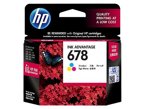 HP 678 Tri-color Original Ink Advantage Cartridge