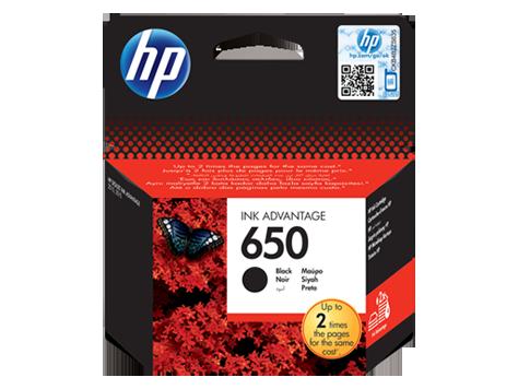 HP 650 Black Original Ink Advantage Cartridge Inkjet Printer