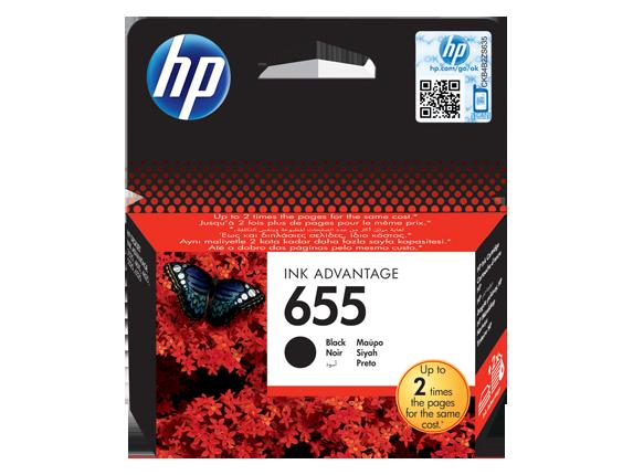 HP 655 Siyah Orijinal Ink Advantage Mürekkep Kartuşu