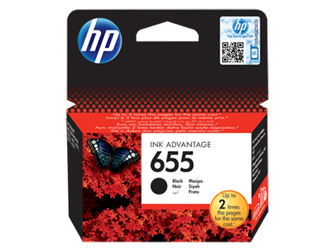 HP 655 Black Original Ink Advantage Cartridge
