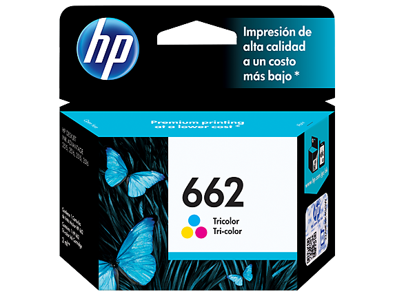 Cartucho original de tinta tricolor HP 662 Advantage