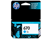 Cartucho original de tinta cian HP 670 Advantage