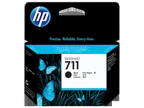 Cartucho de tinta negra HP 711 80-ml