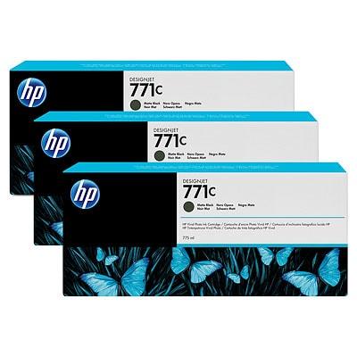 HP 771C 3-pack 775-ml Matte Black DesignJet Ink Cartridges