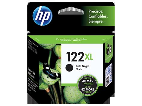 Cartucho original de tinta negra de alto rendimiento HP 122XL