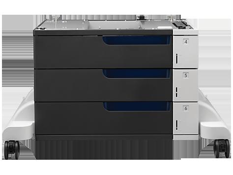HP Color LaserJet 3x500 yapraklık Kağıt Besleyici ve Sehpa