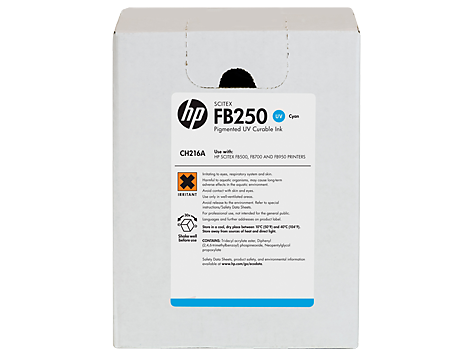 HP FB250 3-liter Cyan Scitex Ink