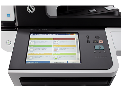 Estación de trabajo de captura de documentos HP Digital Sender Flow 8500 fn1